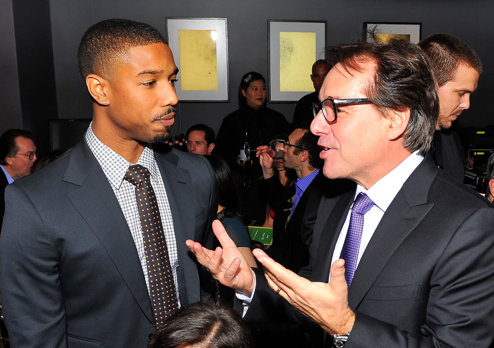 Michael B. Jordan and Chris Columbus