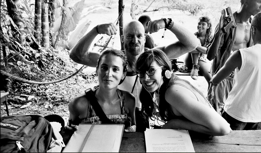 Producers Elena Greenlee and Márcia Nunes on location in Colombia. PHOTO: Nick Huynh