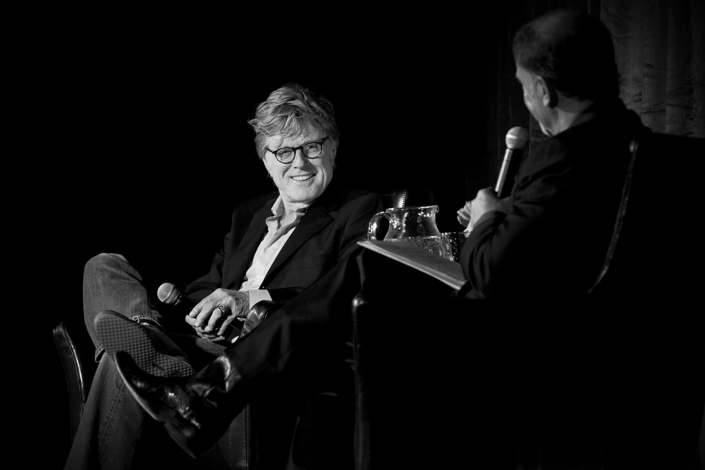 Peter J. Owens Award recipient Robert Redford in conversation with Phil Bronstein at the 52nd SFIFF