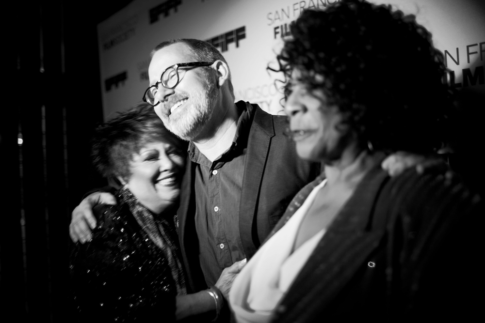 Morgan Neville, Tata Vega, and Merry Clayton at last year's SFIFF premiere screening of TWENTY FEET FROM STARDOM, now nominated for Best Documentary
