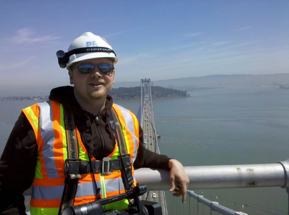Jeremy Ambers on the Bay Bridge
