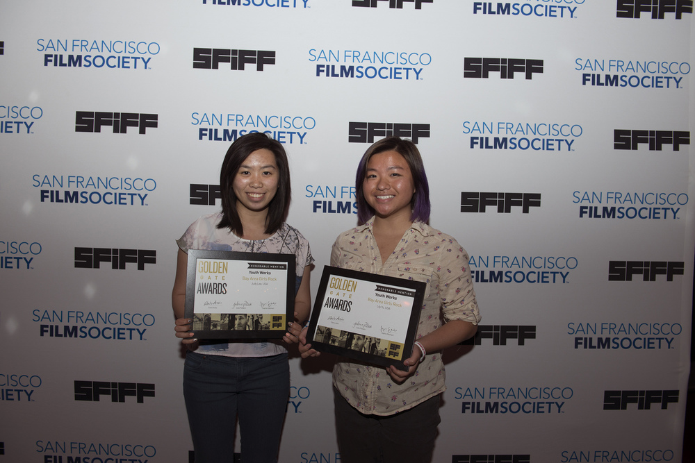 Judy Lee and Lily Yu, co-directors of BAY AREA GIRLS ROCK CAMP, recipient of an Honorable Mention at the Golden Gate Awards