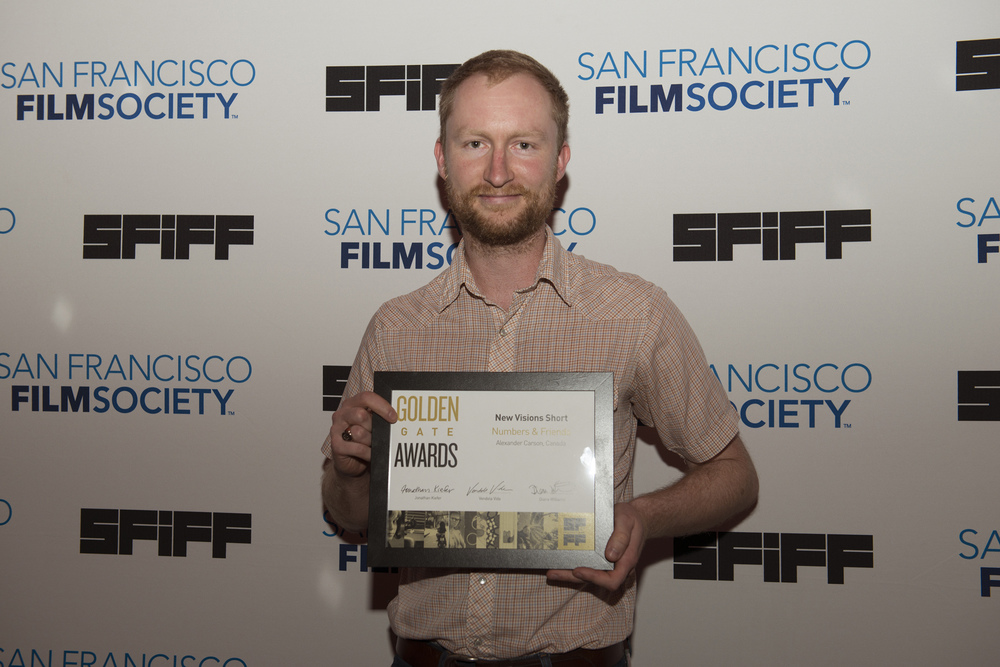 Alexander Carson, director of NUMBERS & FRIENDS, winner of the Golden Gate Award for a New Vision Short