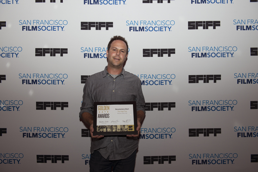 Michael Jacobs, director of THE HIGH FIVE, winner of the Golden Gate Award for a Documentary Short