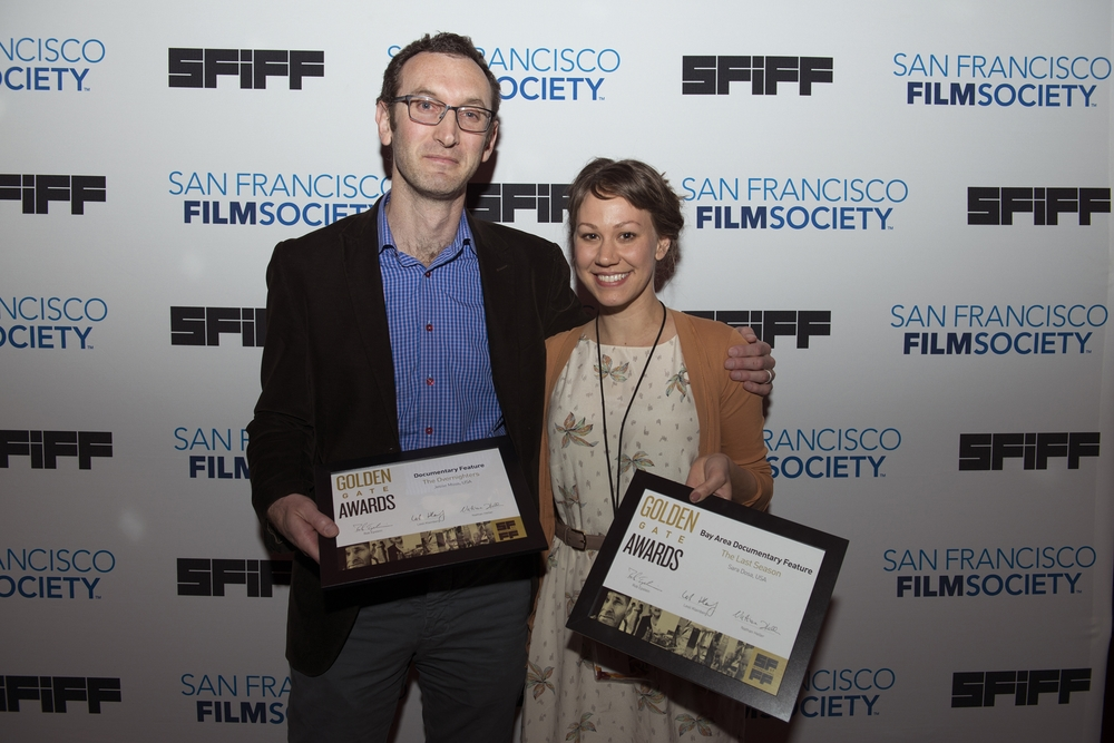 Jesse Moss, director of THE OVERNIGHTERS, winner of the Golden Gate Award for Documentary Feature & Sara Dosa, director of THE LAST SEASON, winner of the Golden Gate Award for Bay Area Documentary