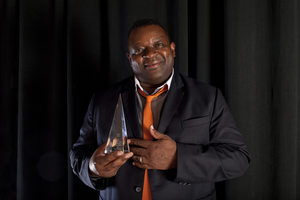 Persistence of Vision Award recipient Isaac Julien at the 57th San Francisco International Film Festival Photo: Pamela Gentile