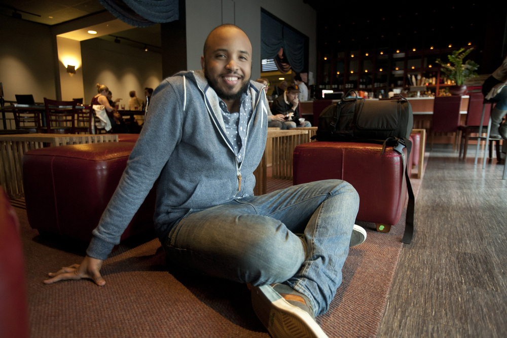 Justin Simien, director of DEAR WHITE PEOPLE, at the 57th San Francisco International Film Festival  Photo: Tommy Lau