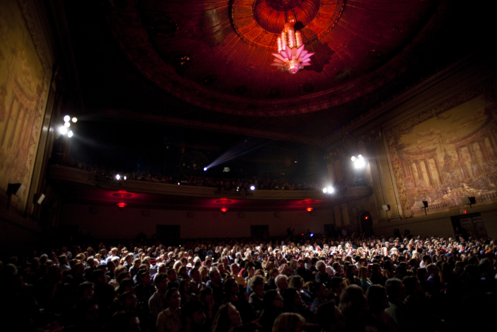Audience at An Evening with Richard Linklater, Castro Theatre