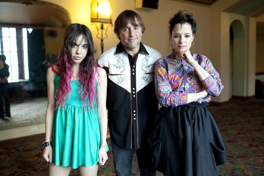 Lorelei Linklater, Founder's Directing Award recipient Richard Linklater and Parker Posey
