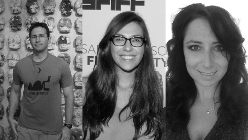 Inaugural SFFS / KRF Producer Fellows Jonathan Duffy, Márcia Nunes, and Laura Wagner