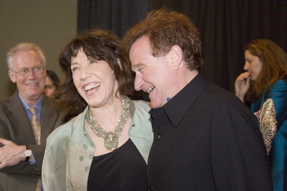 Lily Tomlin and Robin Williams