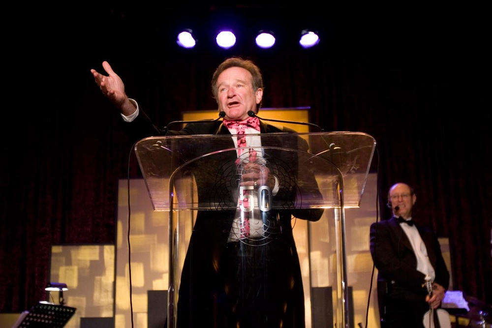 Robin Williams Accepting Peter J. Owens Award