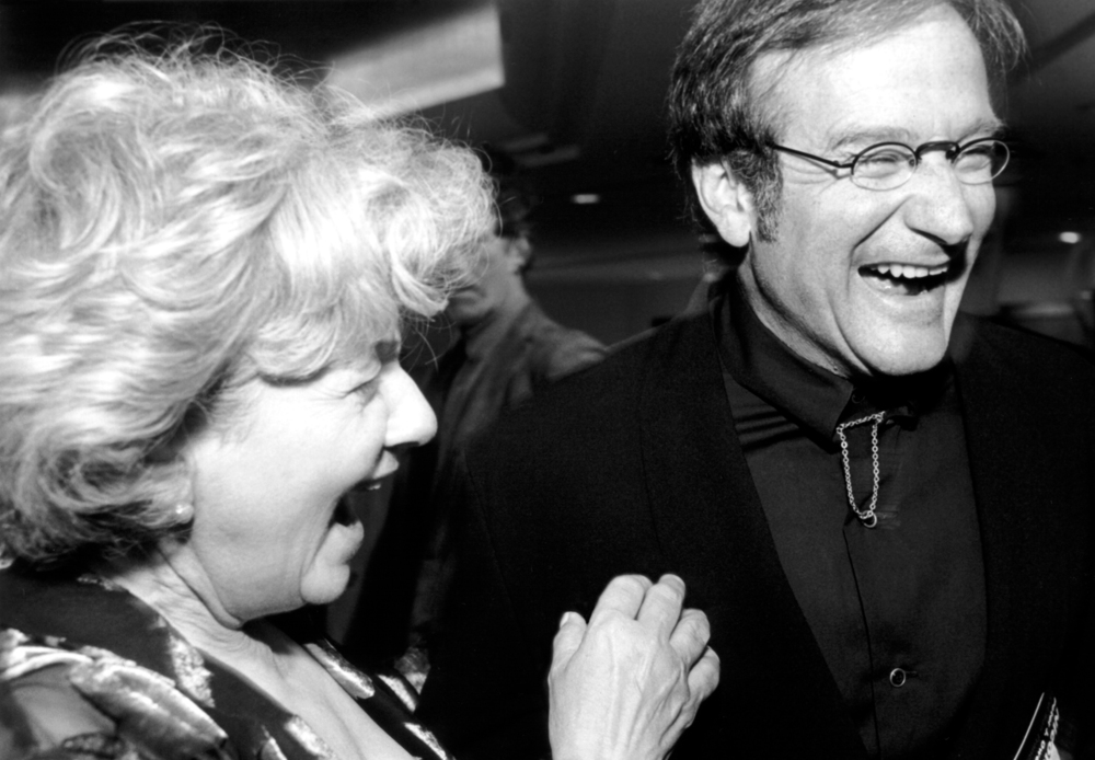Jeannette Etheredge and Robin Williams
