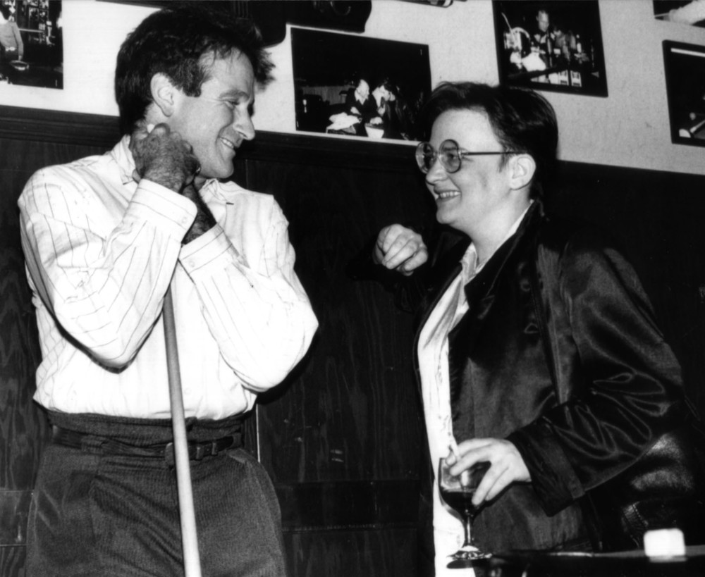 Robin Williams and director Agnieszka Holland (Angry Harvest)