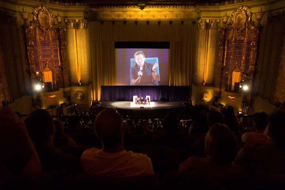 Rear View of Robin Williams at Castro Theatre