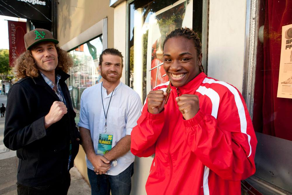 Directing duo Drea Cooper & Zackary Canepari and Olympic boxer Claressa Shields