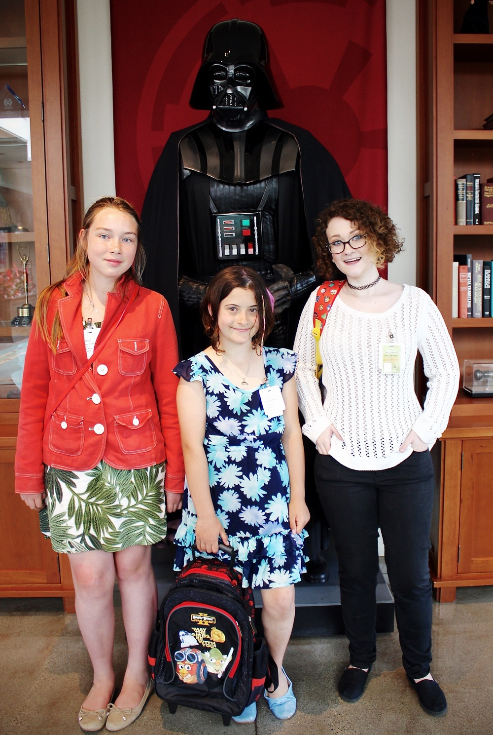 CONTEST RUNNERS-UP ON A TOUR OF LUCASFILM.