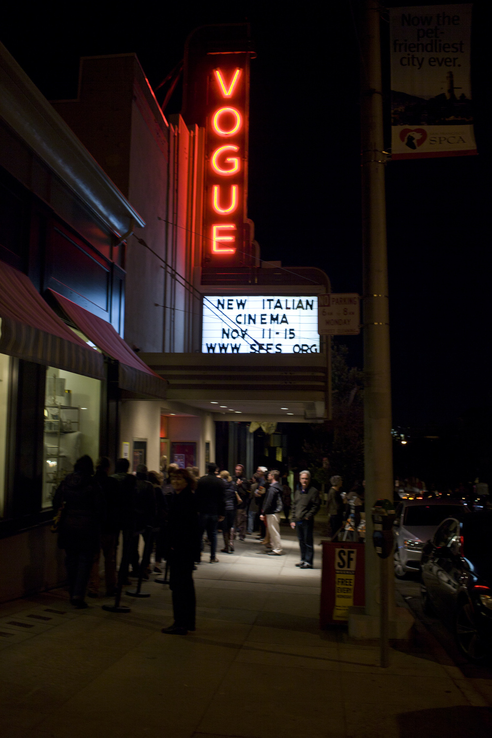 Marquee at the Vogue Theatre