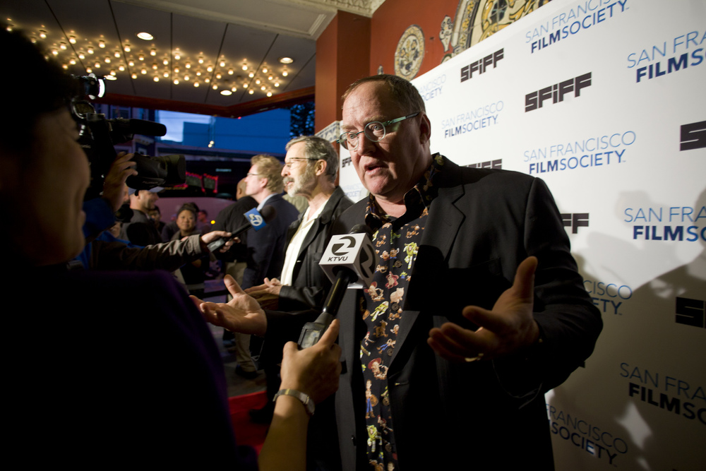 Pixar founder John Lasseter on the red carpet at the Castro Theatre