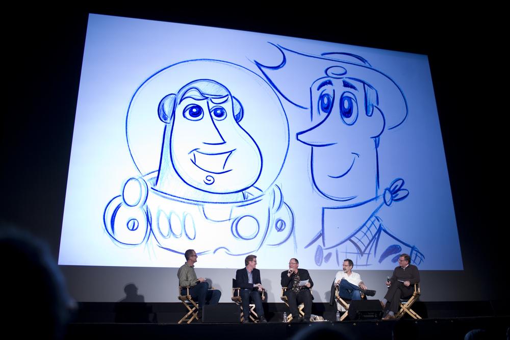 Pete Docter, Andrew Stanton, John Lasseter & Ed Catmull with Noah Cowan