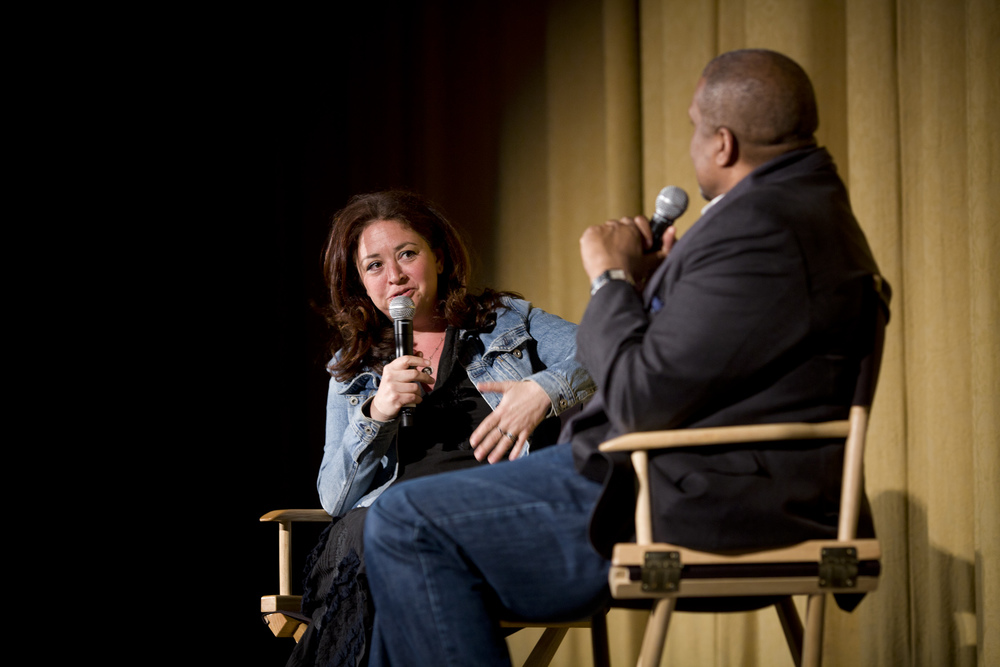 Liz Garbus & Tavis Smiley onstage