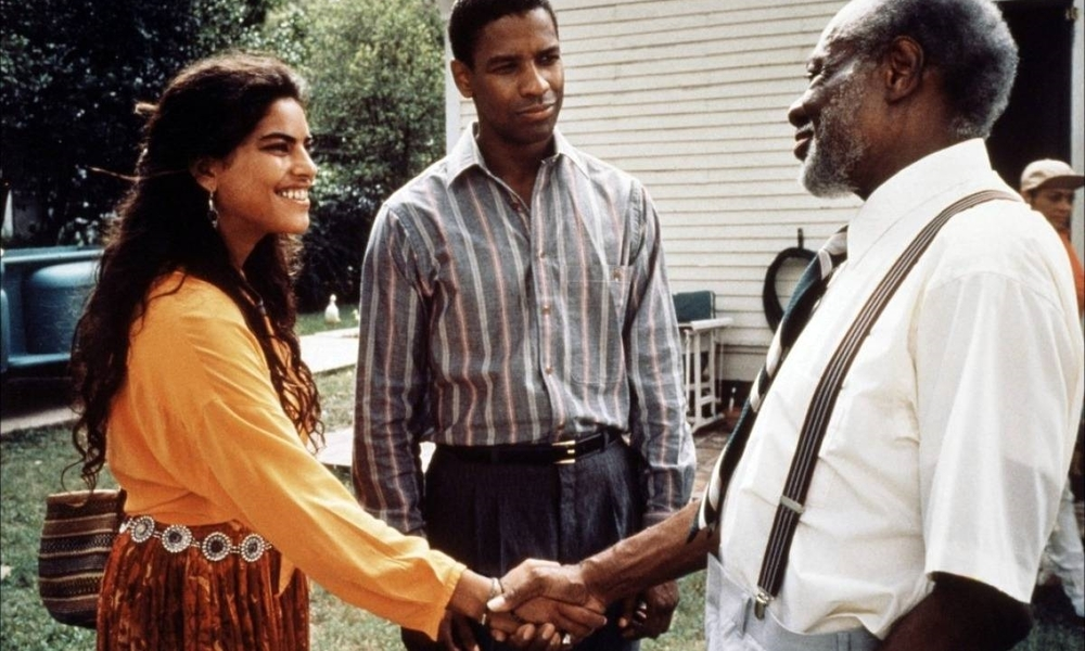 Sarita Choudhury, Denzel Washington and Joe Seneca in  Mississippi Masala  (1991)