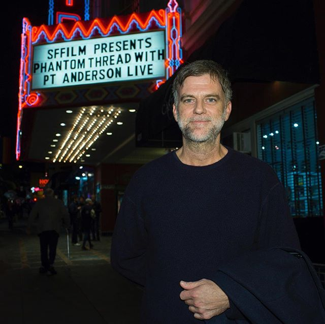 "Perfect way to start the new year: an amazing #SFFILM member screening of #PhantomThread at @castrotheatre with @paulthomasanderson in person. ""I️ definitely think about the Castro as I'm making my movies. We've made quite a wonderful habit of coming here when we've made a new one, and I️ love it in this theater."" 📷 Pamela Gentile"