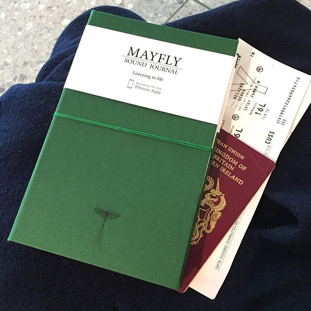 My empty Mayfly waiting to be filled with the sounds of Japan! #journal #sound #japan #traveljournal