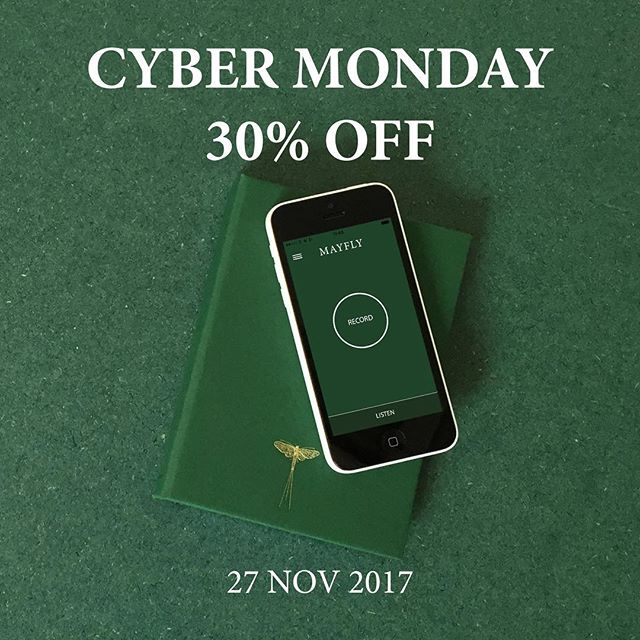 Cyber Monday - last chance to receive 30% off Mayfly Journals Jotters and Stickers. #stationery #gift #journal #travel #cybermonday #discount