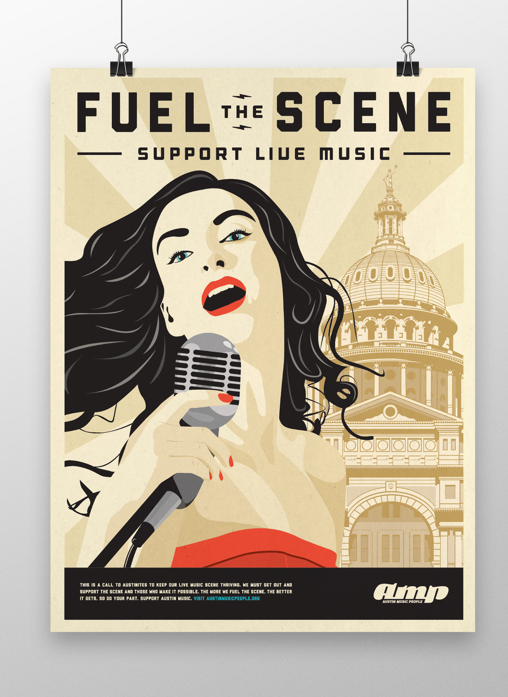AMP Fuel the Scene Music Poster Illustration & Design.