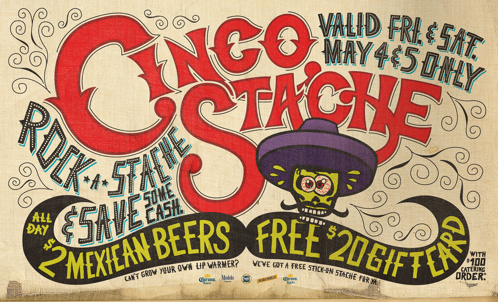Cinco Stache Poster Design