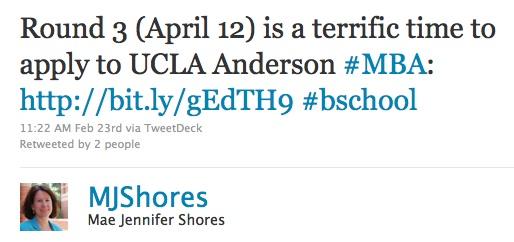 Recent Tweet from Mae Jennifer Shores