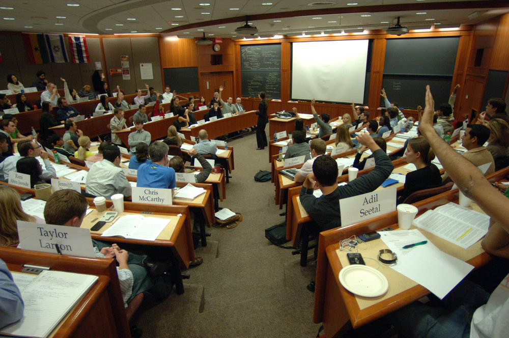 A show of hands at HBS - who here has over a 750 GMAT score?