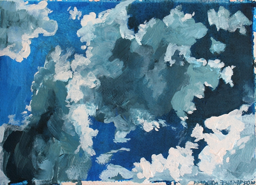 Small clouds painting