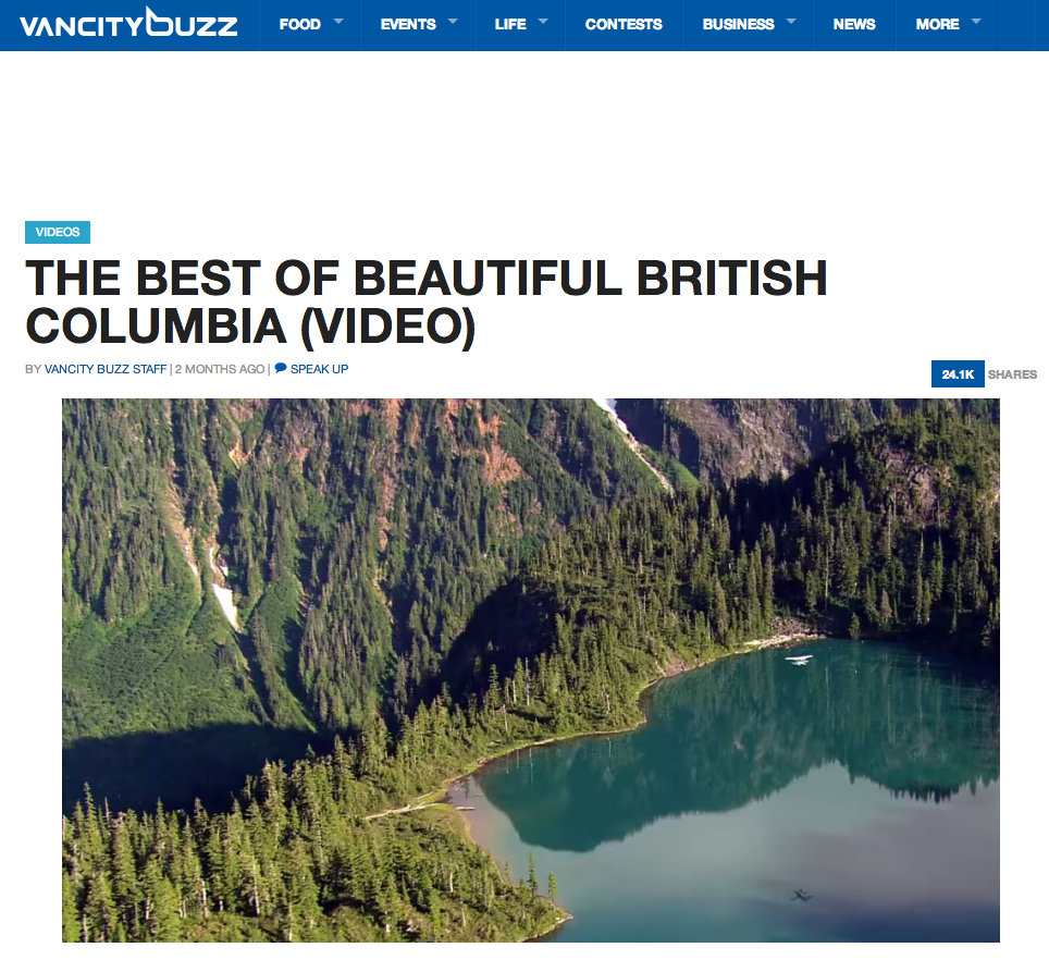 VIA VANCITY BUZZ   Destination BC, the provincial tourism commission, has   created a brand new video that reminds us of how just spectacular the West Coast of Canada is.  Video by Barbershop Films.