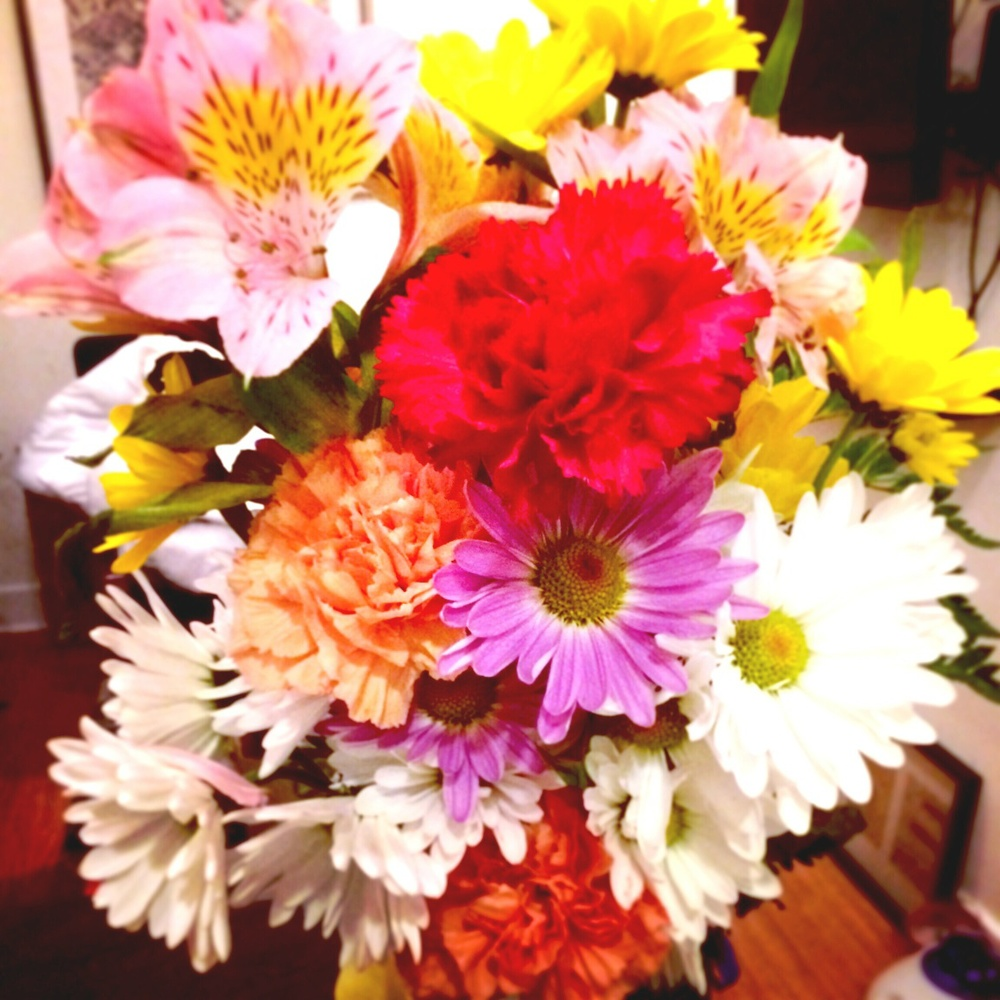 Been loving having an abundance of fresh flowers around the house. So colorful!