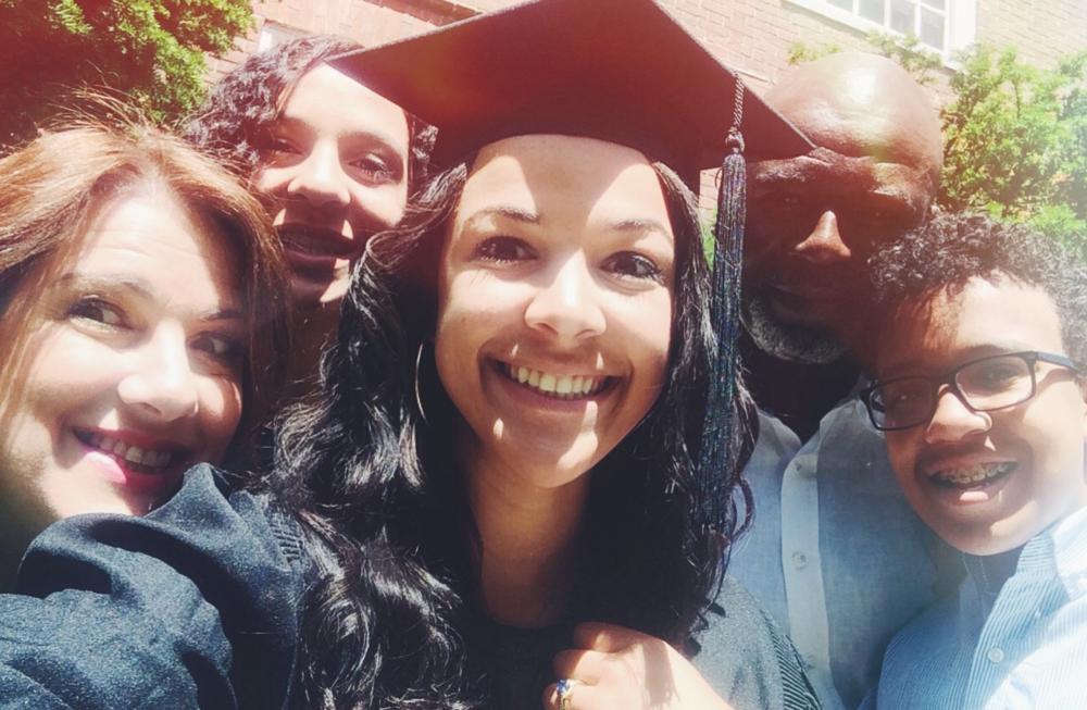 Graduation Day Fam Bam Selfie