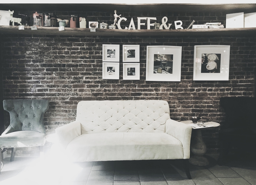 Cozy corners of Newbury Street cafes. Perks of our prime office location.