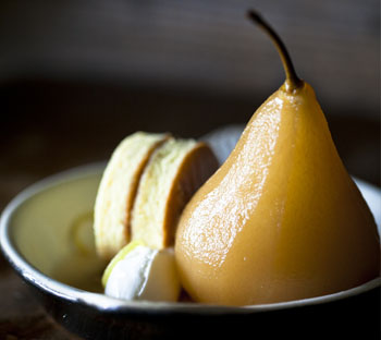 Outerlands Whole Pear Dessert