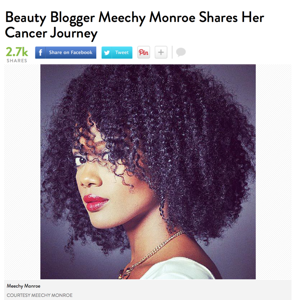 Story Link:  http://www.people.com/article/meechy-monroe-beauty-blogger-cancer-journey