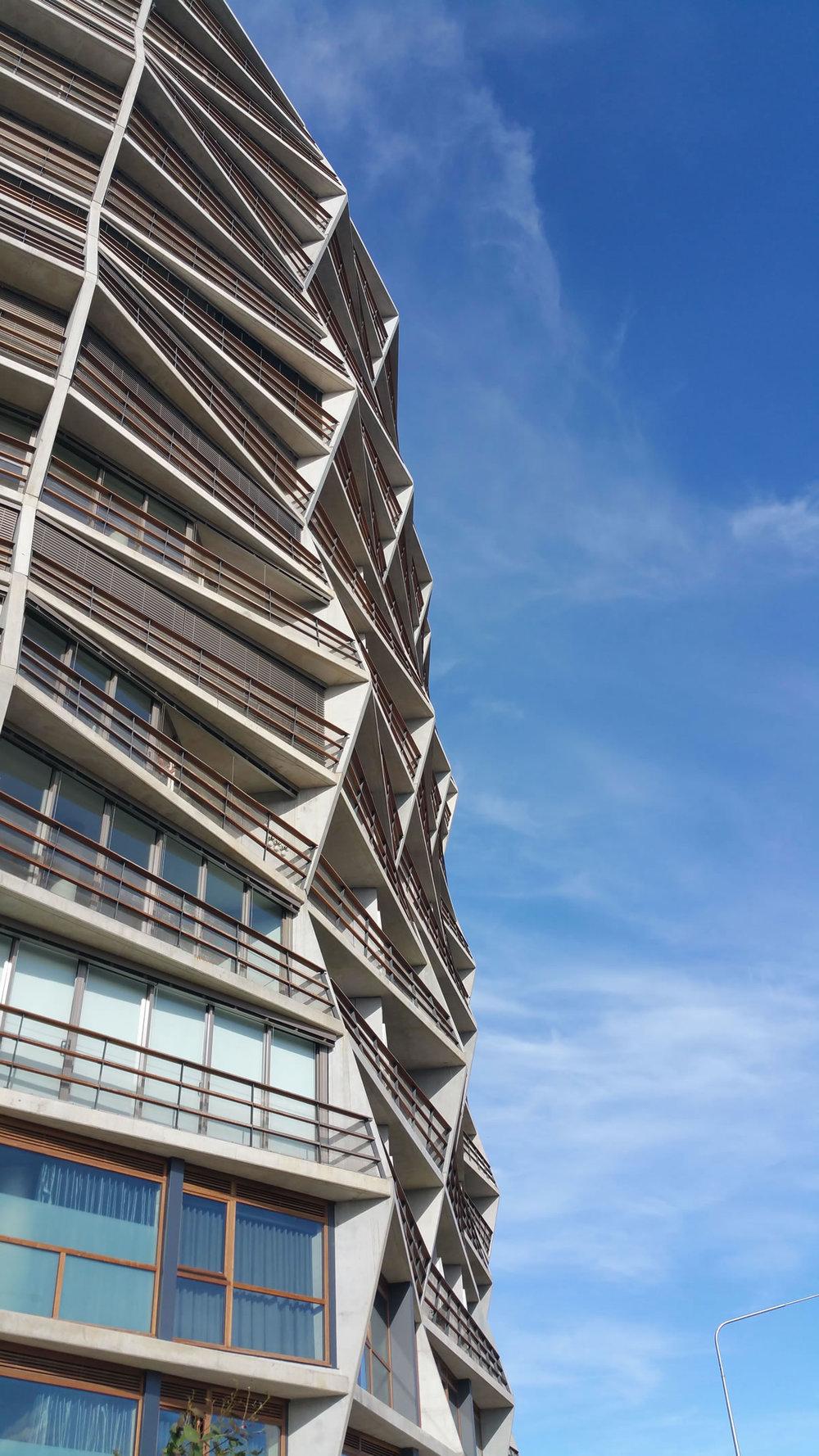 Hotel Hotel lives within the striking Nishi building, designed by Fender Katsalidis Architects & Suppose Design Office.