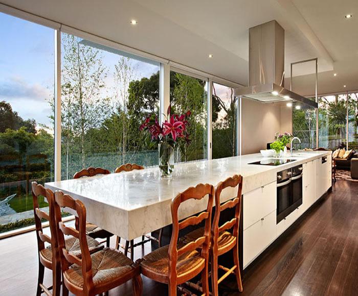 47 glen shian lane mt eliza grey white marble beautiful kitchen dining table part of island bench glamorous