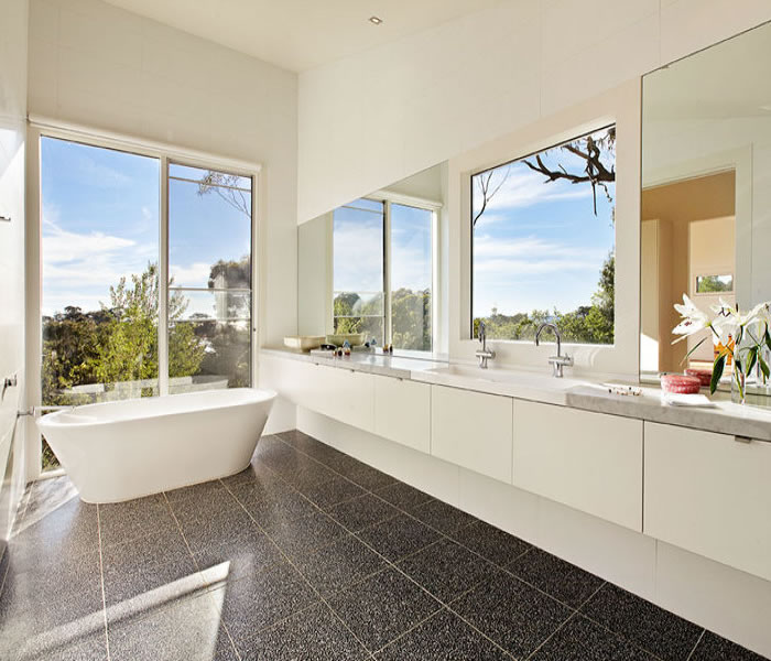 47 glen shian mt eliza white bath freestanding grey tiles bathroom