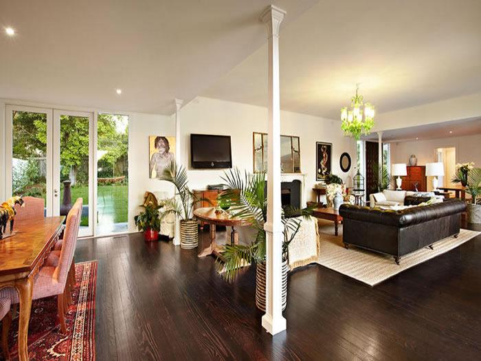 47 glen shian mt eliza dark timber floorboards white column living room