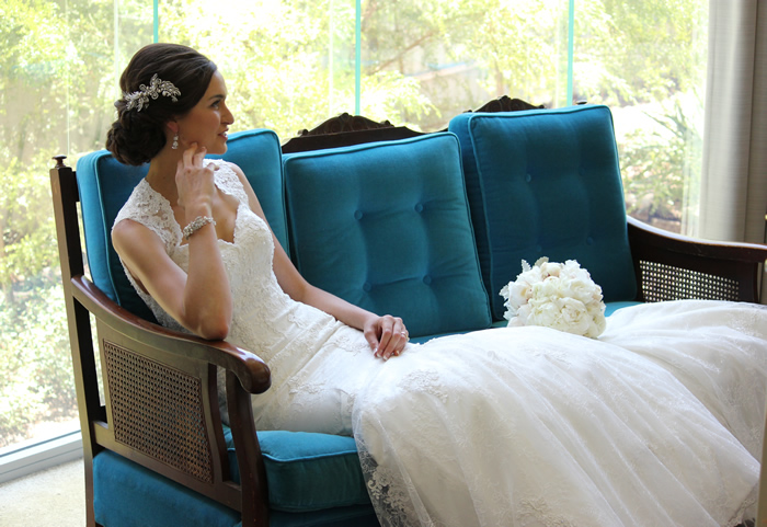 tuille and crystal bridal gown