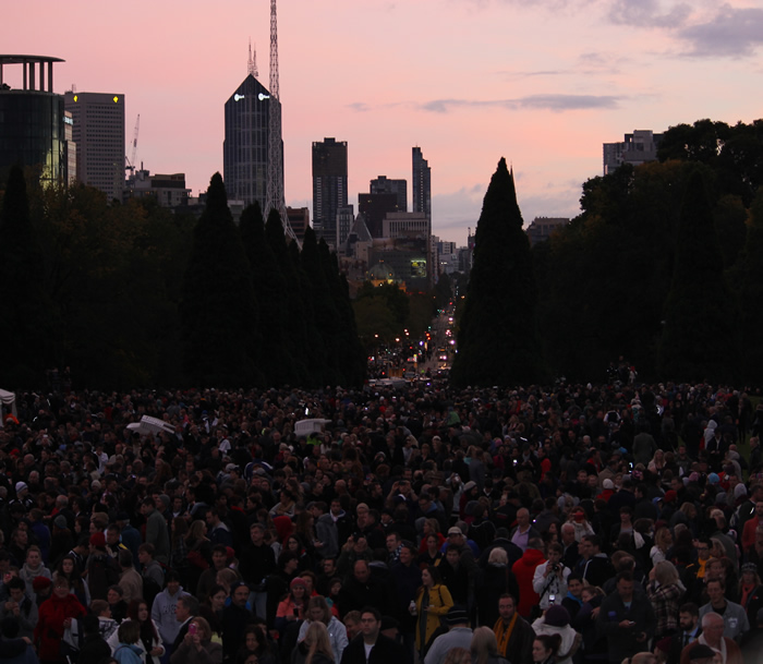 anzac day dawn service melbourne