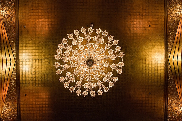 chandelier gold ceiling