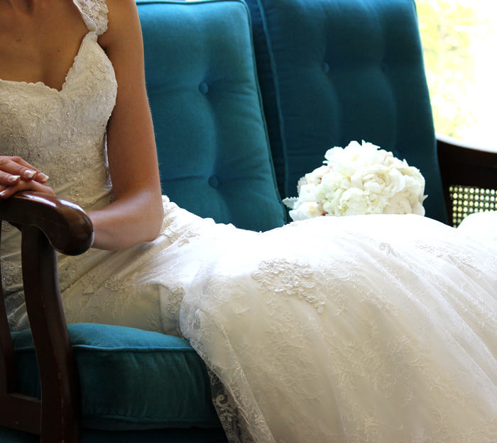 tuile wedding gown