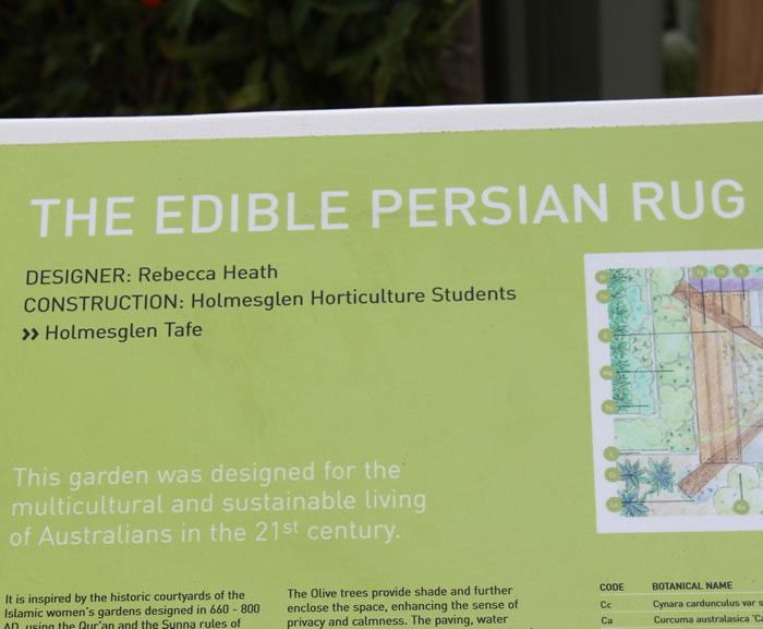 edible persian rug garden design by rebecca heath