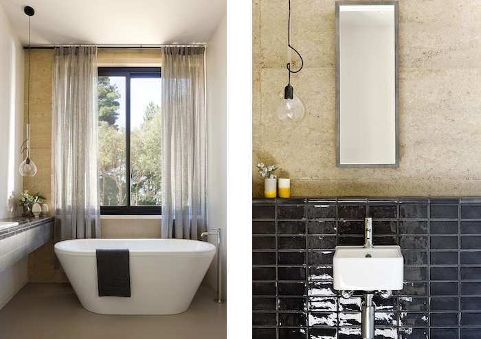 contemporary curtains in bathroom robson rak architects